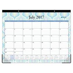 "Blue Sky ""Boca"" 22 x 17 Monthly Desk Pad Calendar, Jul 2017 to Jun 2018"