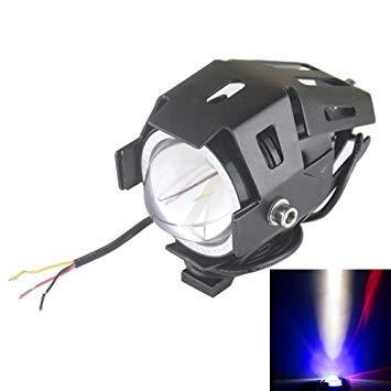 Uniqus U5 125W 3000LM CREE-RGB LED Waterproof IP67 Headlamp Light with Angel Eyes Light for Motorcycle SUV, DC 12V-80V