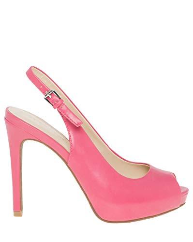 LE CHÂTEAU Leather-Like Peep Toe Slingback - Slingback Pink