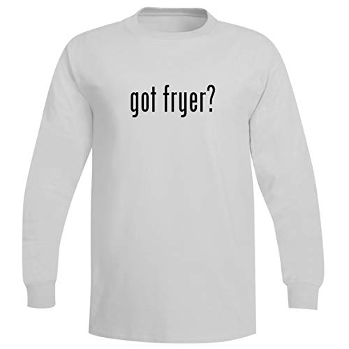 The Town Butler got Fryer? - A Soft & Comfortable Men's Long Sleeve T-Shirt, White, XXX-Large