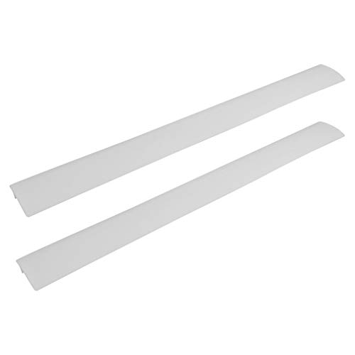 Silicone Kitchen Stove Counter Gap Cover Long & Wide Gap Filler (2 Pack) Seals Spills Between Counters, Stovetops, Washing Machines, Oven, Washer, Dryer | Heat-Resistant and Easy Clean (White)
