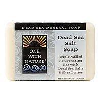 One With Nature Dead Sea Salt Bar Soap, 7 Ounce -- 2 per case.