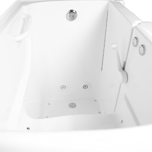 Ariel Bath EZWT-3052 Dual Series Gelcoat Fiberglass White Walk-In Bathtub With Right Side Drain And Door Opening