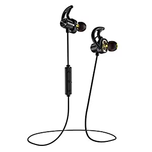 Phaiser BHS-790 Bluetooth Headphones with Dual Graphene Drivers and AptX Bluetooth 5.0 Sport Headset Earphones with Mic and Lifetime Sweatproof Guarantee – Wireless Earbuds for Running, Blackout