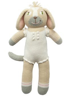 (Blabla Pearl The Dog Mini Plush Doll - Knit Stuffed Animal for Kids. Cute, Cuddly & Soft Cotton Toy. Perfect, Forever Cherished. Eco-Friendly. Certified Safe & Non-Toxic.)
