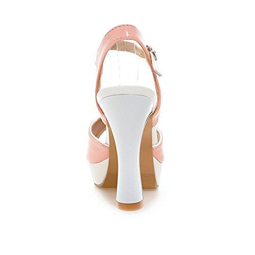 Toe Foot Charm Platform Sandal Dress Heel High Pink Womens Peep xOWWgn4S