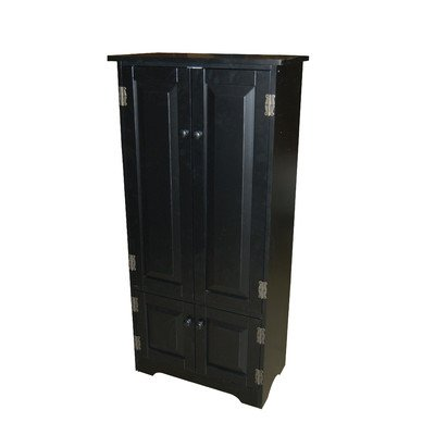 Target Marketing Systems Tall Storage Cabinet with 2 Adjustable Top Shelves and 1 Bottom Shelf, Black (2 Door Tall Cabinet)