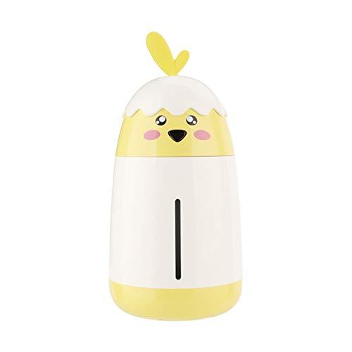 STAZSX Pulverizador humidificador Mini USB humidificador para Uso doméstico, Amarillo limón