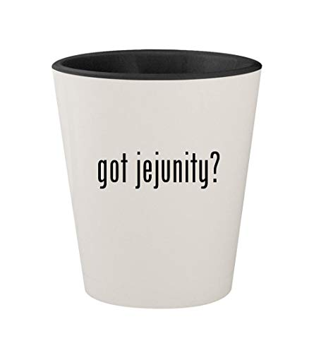 (got jejunity? - Ceramic White Outer & Black Inner 1.5oz Shot)