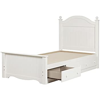 white twin bed. South Shore Savannah Twin Bed Set With 3 Drawers, 39\ White