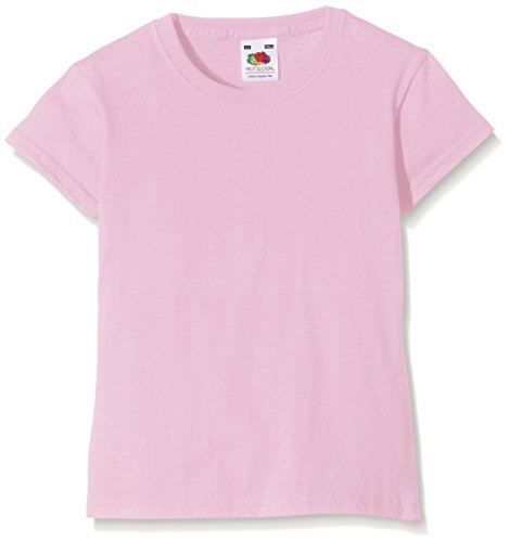 Fruit of the Loom Big Girls Childrens Valueweight Short Sleeve T-Shirt (7-8) (Light Pink) (Big Kids Light Pink Apparel)