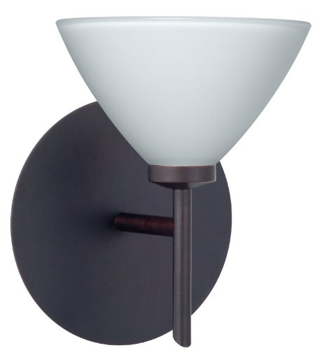 Domi Interior 1 Light Wall Sconce Finish: Bronze, Shade Color: Opal ()