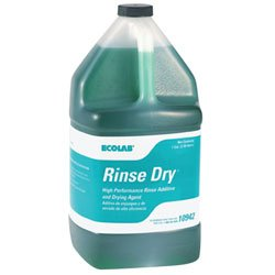 Ecolab 10942 Rinse Dry, Commercial-Grade Rinse Aid, Wicked Faster Drying You Want, 1 Gallon (Case of 4) by Ecolab