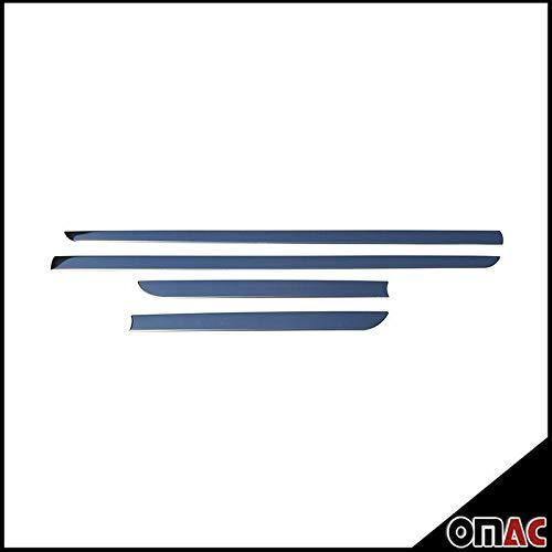 OMAC USA Stainless Steel Chrome Side Body Molding Protector Double Sliding Door Trim 4 Pcs for Honda Civic IX 2012-2015