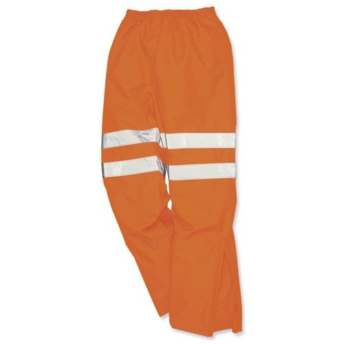 Portwest High Visibility Railtrack Trousers Polyester Breathable-material Large Orange Ref RT61LGE
