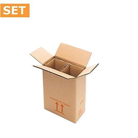 1 unidad del paquete (15 unidades) Cajas de Cartón para 2 botellas de vino