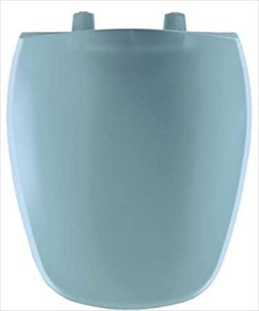 Bemis 1240200024 Eljer Emblem Plastic Round Toilet Seat, Twilight Blue