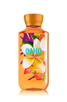 Gel de douche bain corps œuvres Oahu coco oz 10,0 coucher de soleil