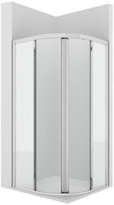 Roca AM17710012 - Cuartocircular ducha con dos puertas correderasenmarcadas con 2 fijos y con guia inferior (r505): Amazon.es: Bricolaje y herramientas