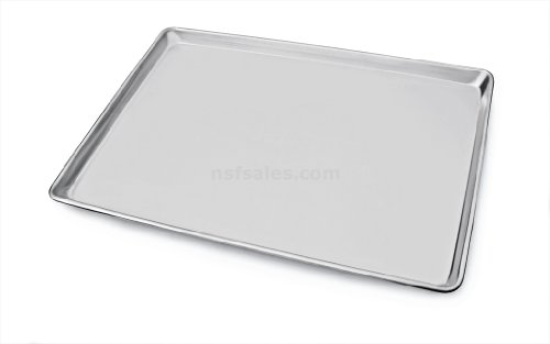 "New star foodservice 36893 commercial-grade 18-gauge aluminum sheet pan/bun pan, 15"" l x 21"" w x 1"" h (two thirds size) 