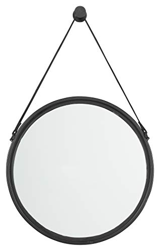(Signature Design by Ashley Dusan Accent Mirror, Black Circle )