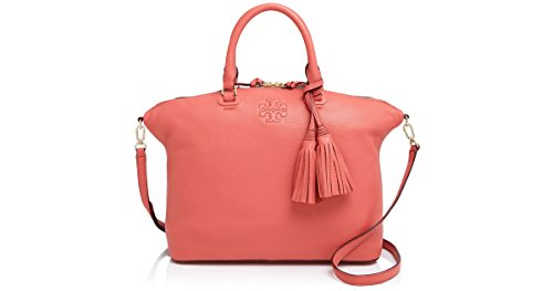 Tory-Burch-THEA-MEDIUM-SLOUCHY-SATCHEL-Spice-Coral-Pink-Bag-New