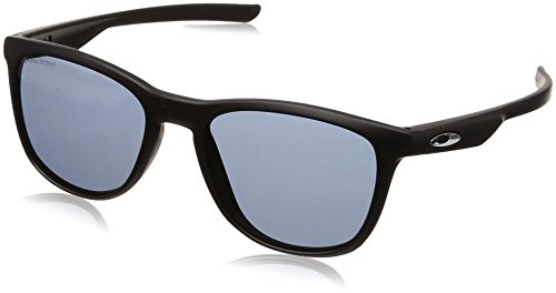 Oakley Men's Plastic Man Sunglass Non-Polarized Iridium Rectangular, MATTE BLACK, 52.0 mm ()