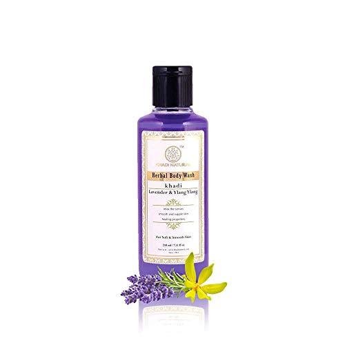 Khadi Natural Herbal Ayurvedic Lavender & Ylang Ylang Body Massage Oil (210 ml) (Best Body Massage Oil In India)