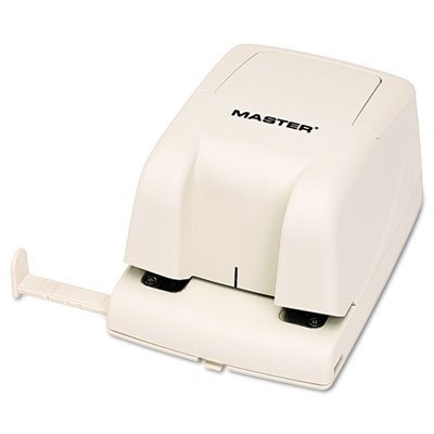"""Master EP210 Electric Hole Punch; Punches Up To 12 sheets of 20 lb Paper; Punches Standard 2-hole Pattern with 2 3/4"""" Centers; 1/4"""" Hole Diameter"""