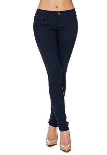Skinny Hipsters Tubi Arizonashopping Hosen Donna Tubo D1701 Dunkelblau Treggings Jeans FqxRgTB
