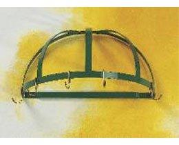 Half Round Wall Pot Rack (Gourmet Half Dome Wall Mounted Pot Rack Finish: Black/Brass)