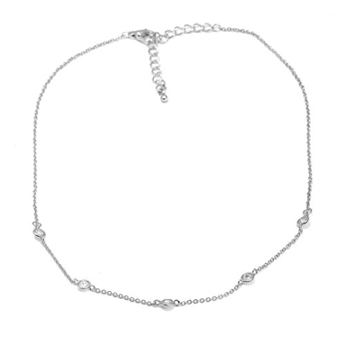 Spinningdaisy Crystal Accent Satellite Necklace