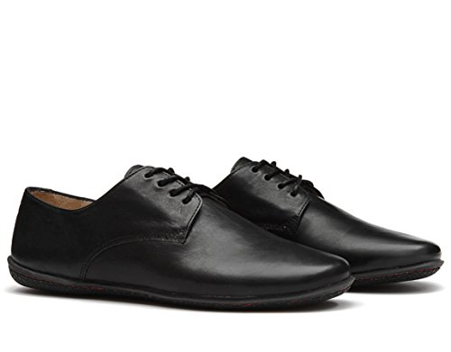 Handcut Lisbon Noir Black noir Chaussures Vivobarefoot Cuir Homme pwEnaFq