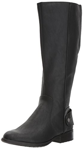 LifeStride Women's Xandy Equestrian Boot, Black 6.5 W US