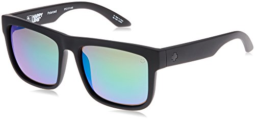 Spy Optic Discord Polarized Flat Sunglasses, Matte Black, 57 - Spy General Sunglasses
