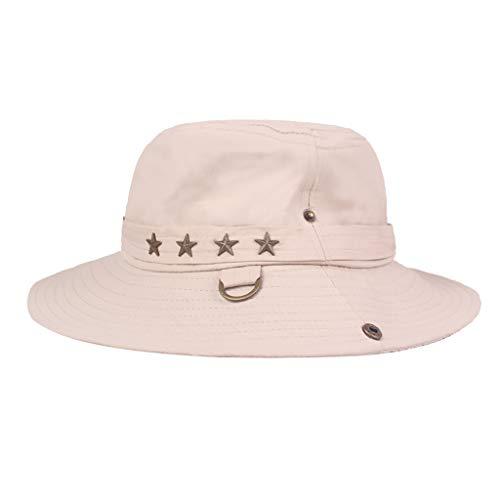 - Fisherman Hat Casual Outdoor Mountaineering Hat Sunshade Hat Sun Protection Cap Visor Sun Hat Beige