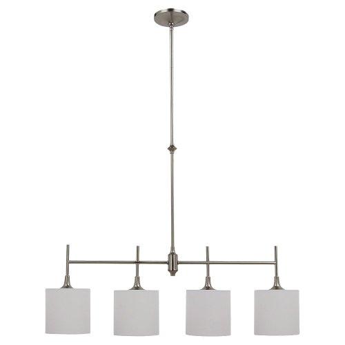 Sea Gull Lighting 66952-962 Stirling Four-Light Island Pendant Hanging Modern Light Fixture, Brushed Nickel ()