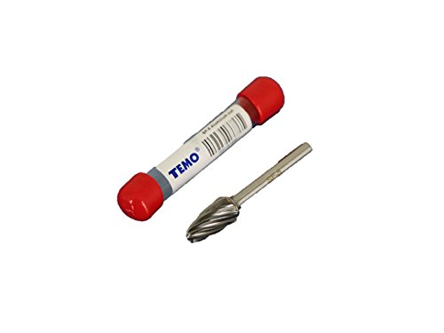 Round Tree Nose - TEMO SF-5 NF Aluminum Cut CARBIDE Rotary BURR FILE, 1/2 inch (12.7mm) HEAD Round Tree, 1/4 inch (6.35mm) Diameter 2 inch (50.8mm) Long Shank