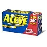 Aleve Naproxen Sodium 220 mg - 250 Caplets - Longer Expiration Dating
