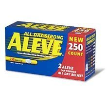 Aleve Naproxen Sodium 220 mg - 250 Caplets - Longer Expiration Dating
