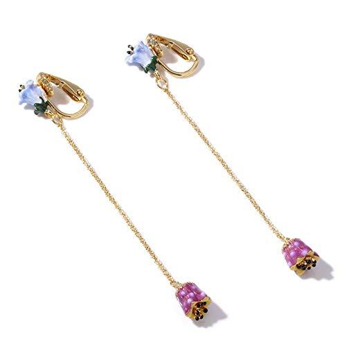 MYYQ. Earring Tassel Earrings Ear Clip Gold-Plated Maxi ()