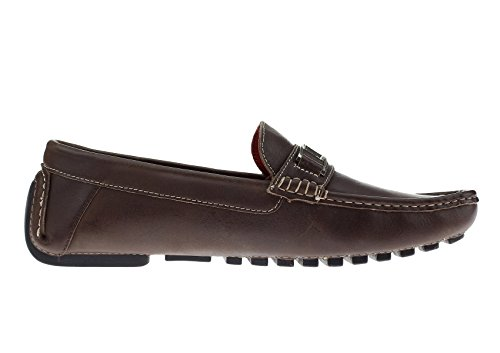 On Air LN NATAZZI Brown Bit Moccasin Grant Mens Slip Shoes Driving Leather LUCIANO Loafer qtfxwt5z
