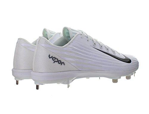 Nike Herren Lunar Vapor Pro Low Metal Baseballschuh Weiß / Weiß / Dunkelgrau