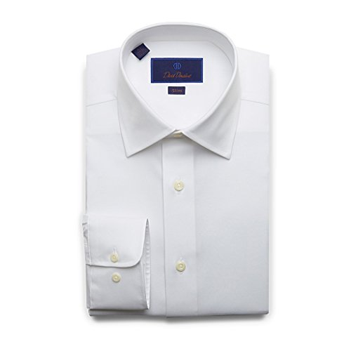 David Donahue Super Fine Twill Barrel Cuff Slim Fit Dress Shirt 17