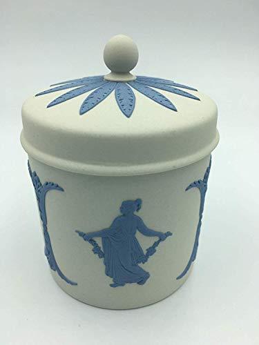 Wedgwood Reverse Blue Jasperware Round Lidded Tobacco Jar