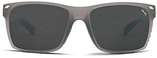 Zeal Optics Brewer Polarized Sunglasses - Granite Grey Frame with Dark Grey Lens