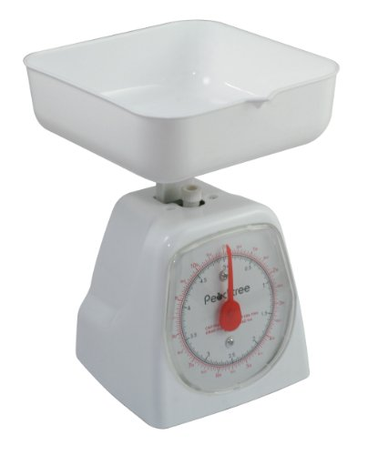 American Weigh Scales AWS Peachtree Series Precise Mechanical Kitchen Scale, White, 5000G, 5KG