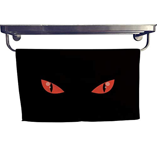 warmfamily Sports Ttowel Scary Red Monster Animal Eyes in Darkness Towel W 20