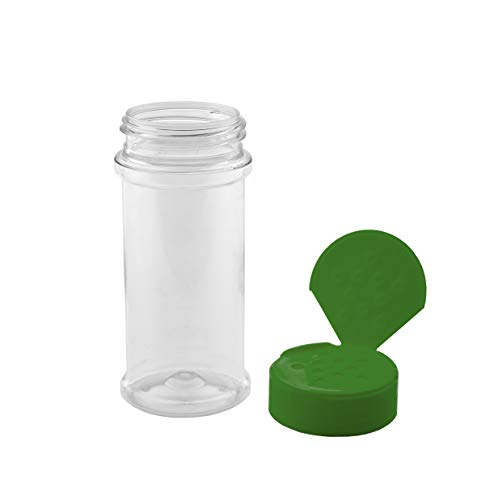 Marketing Holders Spice Seasoning Salt Shaker Dry Herb Container Food Jar for Spices 8 oz Green Lid Pack of 6