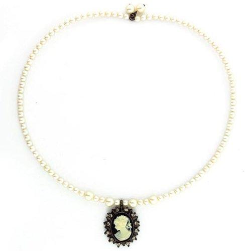 Hematite Cameo (1928 Jewelry Kimberly's Cameos Coil Choker)